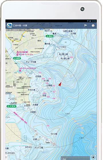 海釣図アプリ