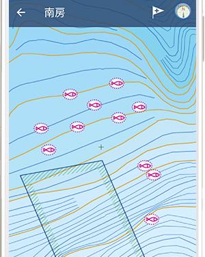 周辺の魚礁や根を探す