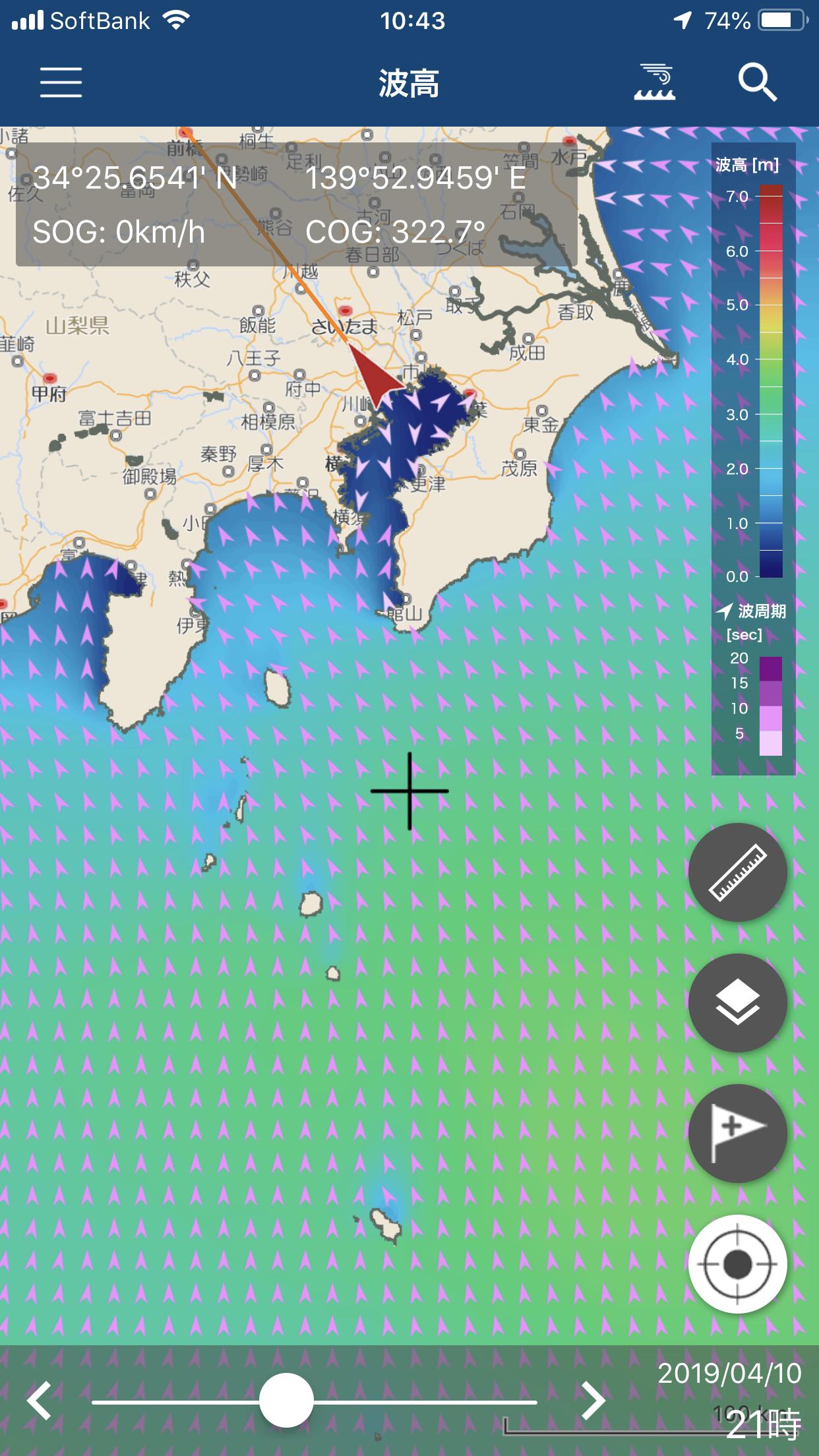 波高・波向・波周期を調べる